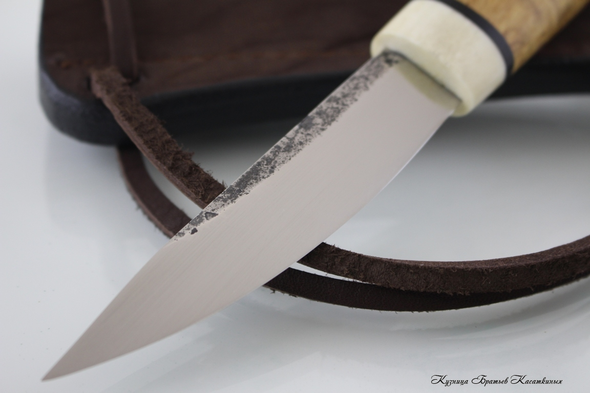 Yakutian knife (small size). Stainless Steel 95h18. Karelian birch handle