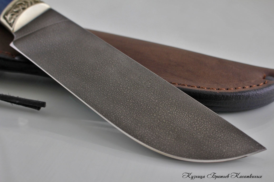 "Hunting Knife ""Medved"". Khv-5 Steel (Extra Hard Steel). Karelian Birch Handle"