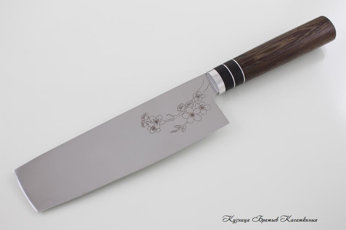 "Kitchen Knife Set ""Samurai"". 95kh18 Steel. Wenge Handle"