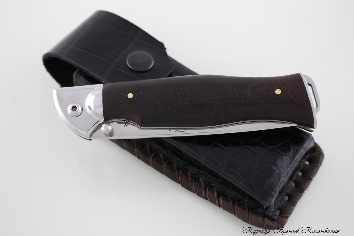 "Folding knife ""Legioner"". h12mf Steel. Hornbeam Handle"