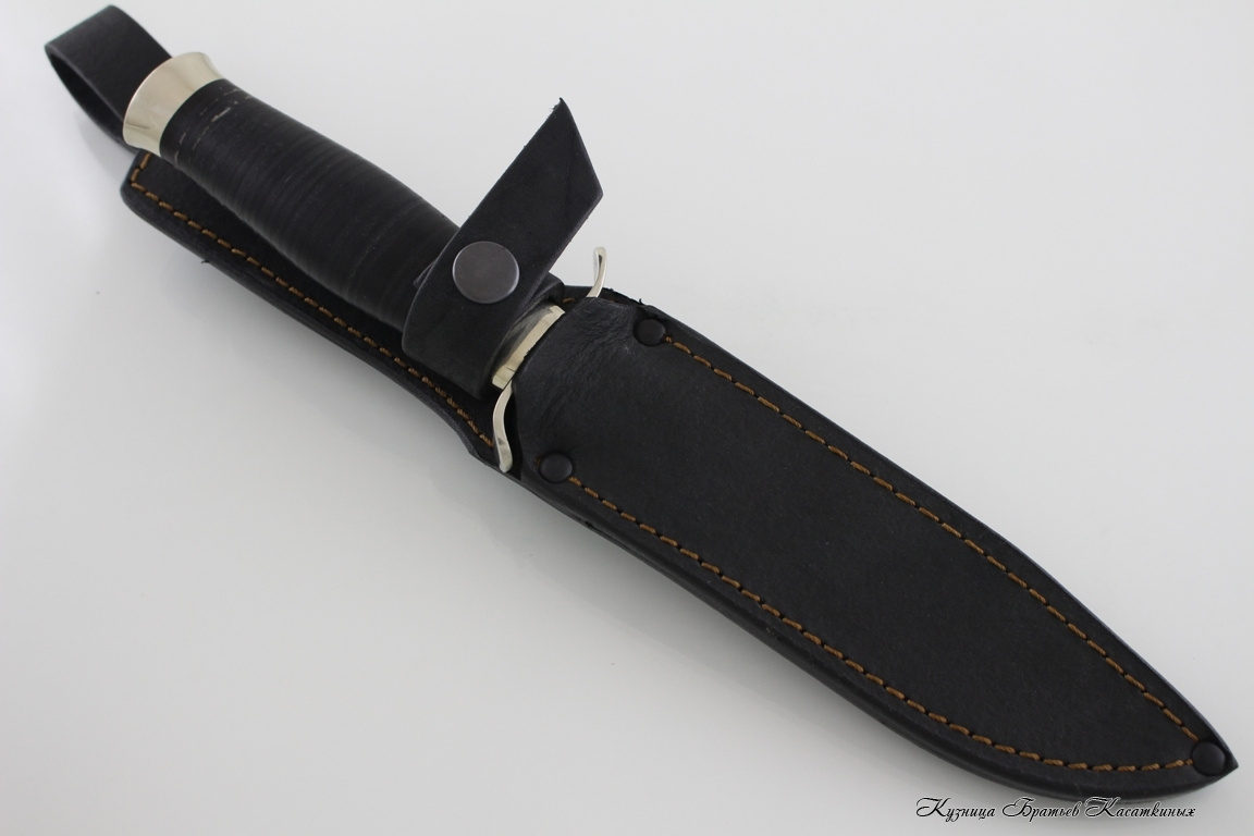 NR-40. h12mf Steel. Leather handle