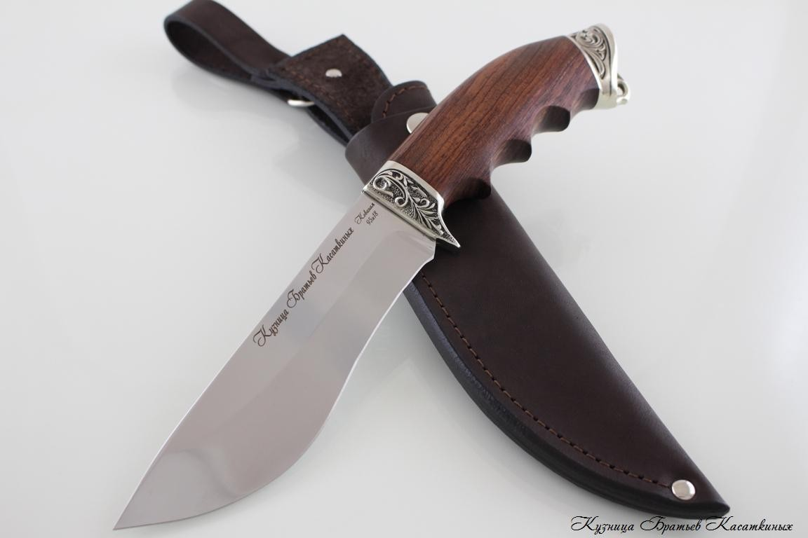 "Hunting Knife ""Eger"". Stainless Steel 95h18. Bubinga Handle"