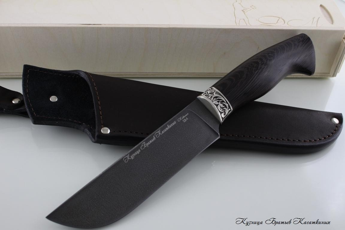 "Hunting Knife ""Medved"". Khv-5 Steel (Extra Hard Steel). Wenge Handle"