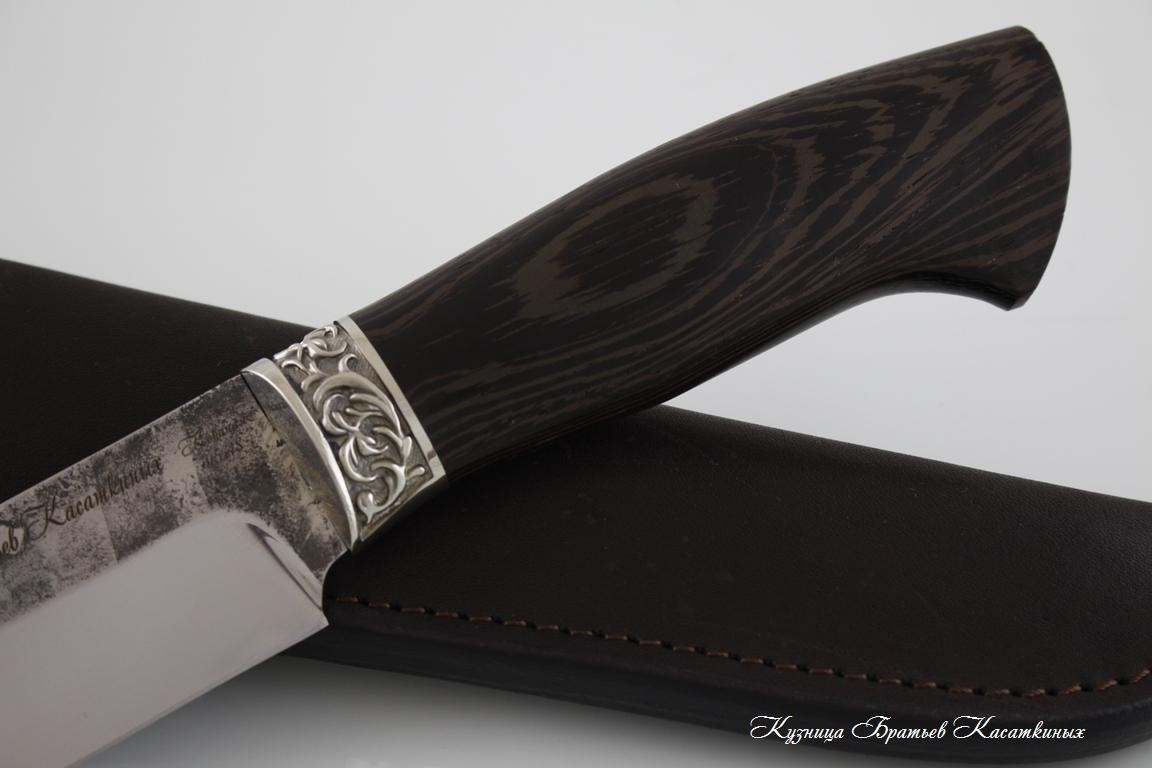 "Hunting Knife ""Medved"". Stainless Steel 95h18. Wenge Handle"