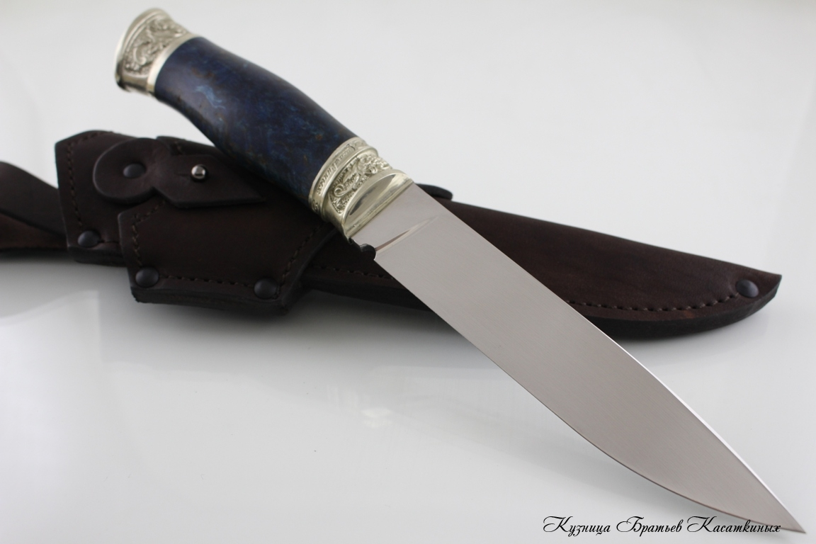 "Hunting Knife ""Zasapozhny"". Bohler k 340 Steel. Karelian Birch Handle"