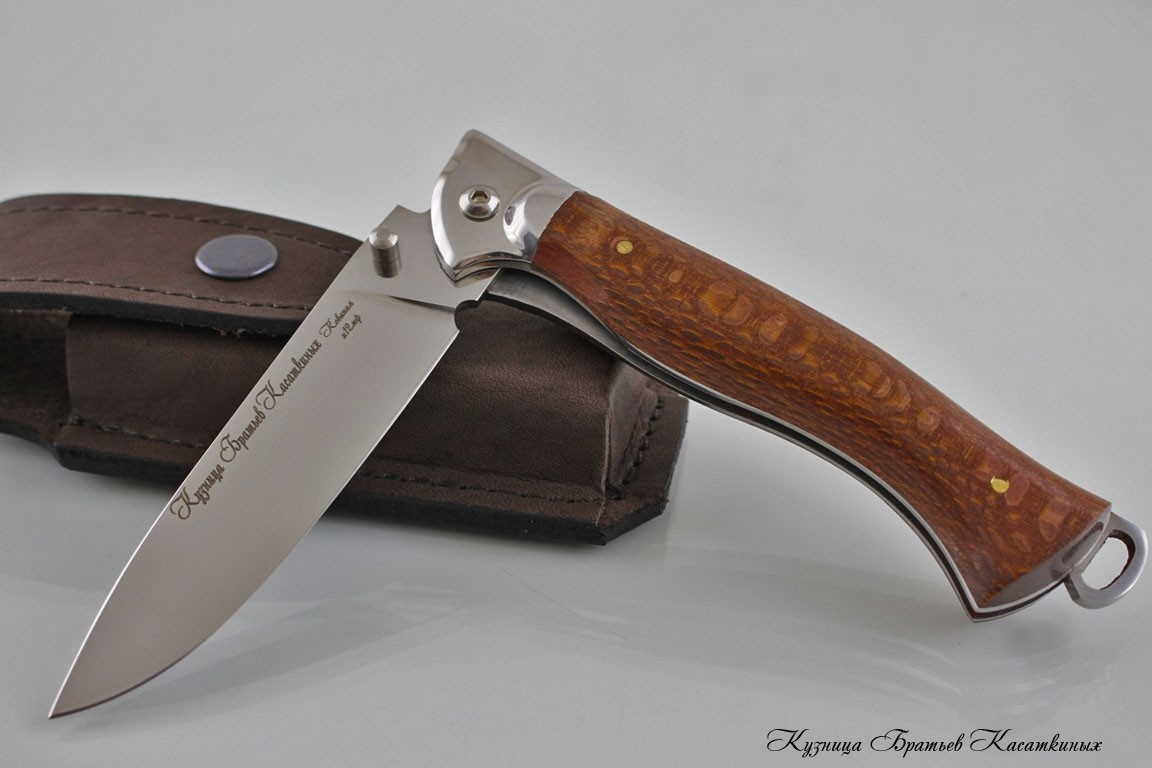 "Folding knife ""Legioner 2"". h12mf Steel. Lacewood Handle"