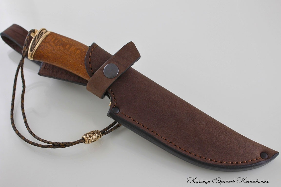 "Hunting knife ""Filin"". Stainless Steel 95h18. Lacewood Handle"
